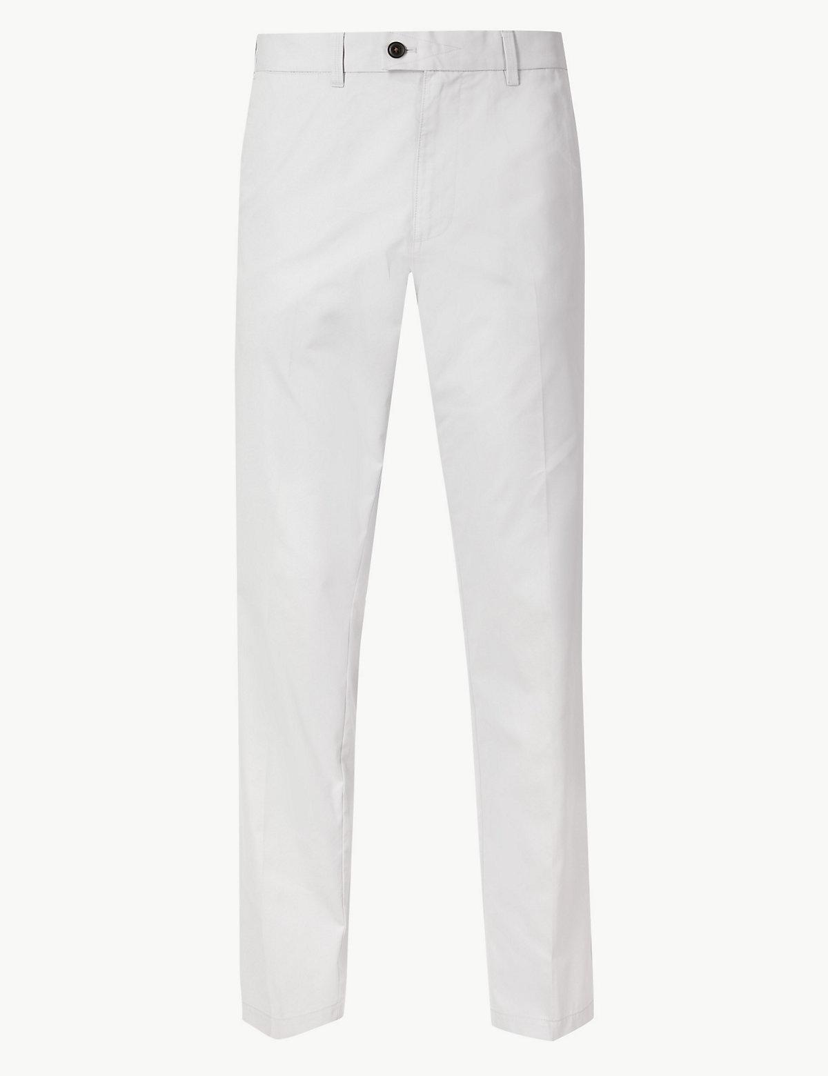 Мужские брюки чинос классического кроя Blue Harbour. Цвет: светлый серый