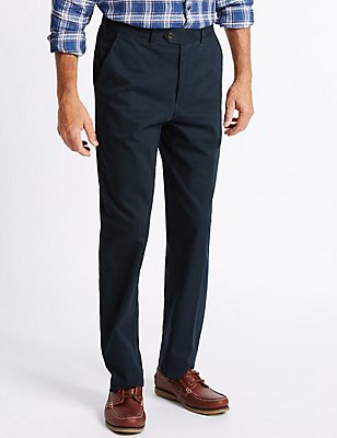 Cotton Rich Chinos, NAVY, catlanding