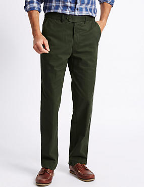 Big & Tall Cotton Rich Chinos, GREEN, catlanding