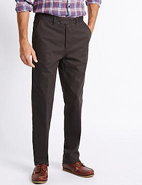 Big & Tall Cotton Rich Chinos, BROWN, catlanding