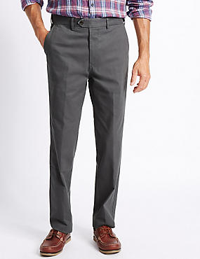 Big & Tall Cotton Rich Chinos, GREY, catlanding