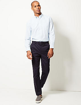 Supima Cotton Wrinkle Free Chinos, NAVY, catlanding