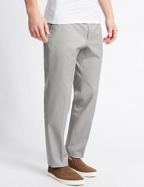Slim Fit Cotton Rich Chinos, GREY, catlanding