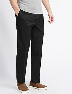 Slim Fit Cotton Rich Chinos, BLACK, catlanding