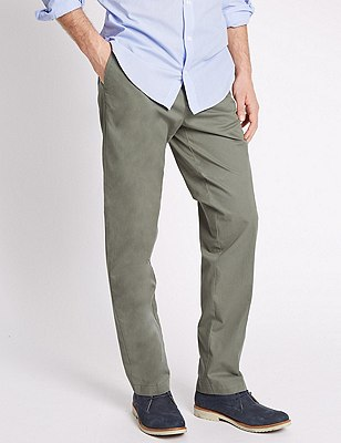Regular Fit Chinos, SAGE, catlanding