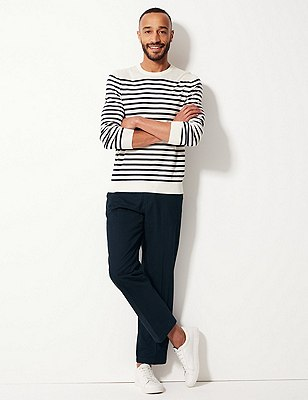 Regular Fit Chinos, NAVY MIX, catlanding