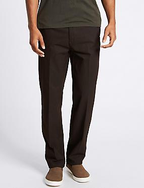 Chino coupe standard, doté de la technologie Stormwear™, MARRON FONCÉ, catlanding