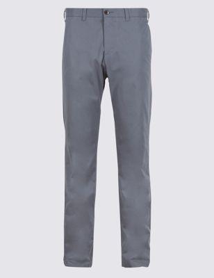 Хлопковые брюки чинос Stormwear™  с подвижным поясом от Marks & Spencer