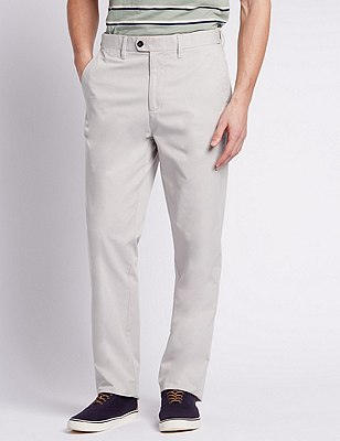 Regular Fit Chinos, WHITE MIX, catlanding