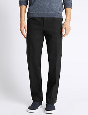 Regular Fit Pleated Chinos with Stormwear™, BLACK, catlanding
