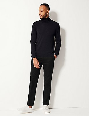 Slim Fit Chinos with Stormwear™, BLACK, catlanding