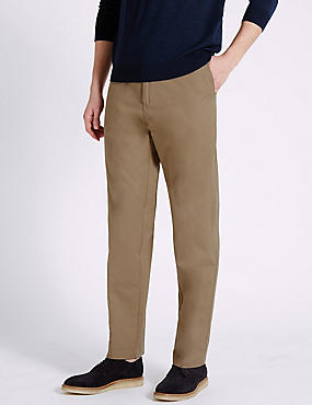 Big & Tall Regular Fit Pure Cotton Chinos, PUTTY, catlanding