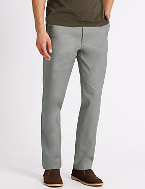 Big & Tall Regular Fit Pure Cotton Chinos, LIGHT GREY, catlanding