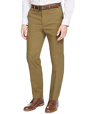 Cotton Rich Tailored Fit Chinos
