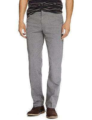 Pure Cotton Regular Fit Chinos, STEEL, catlanding