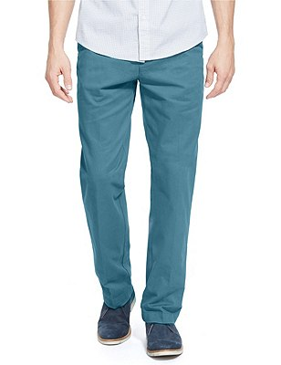 Pure Cotton Regular Fit Chinos, TEAL, catlanding