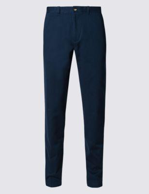 Узкие брюки чинос из чистого хлопка
