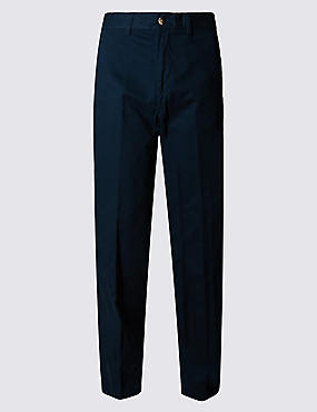 Big & Tall Chinos with Active Waist, NAVY, catlanding