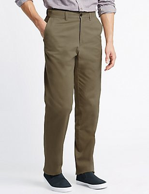 Big & Tall Regular Fit Pure Cotton Trousers, STONE, catlanding