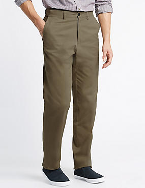 Big & Tall Chinos with Active Waist, STONE, catlanding
