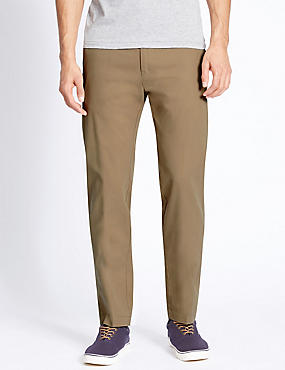 Straight Fit Pure Cotton Chinos, CAMEL, catlanding