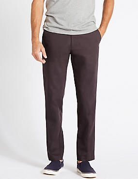 Straight Fit Pure Cotton Chinos, MULBERRY, catlanding