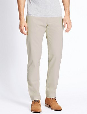 Slim Fit Pure Cotton Chinos  , LIGHT STONE, catlanding