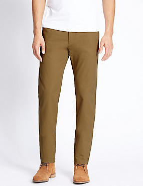 Slim Fit Pure Cotton Chinos, CAMEL, catlanding