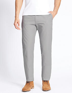 Slim Fit Pure Cotton Chinos, LIGHT GREY, catlanding