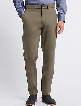 Slim Fit Cotton Rich Chinos with Stretch, NATURAL, catlanding