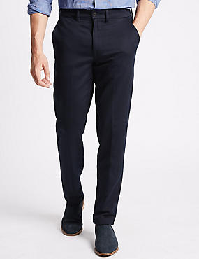 Big & Tall Slim Fit Cotton Rich Chinos, NAVY, catlanding