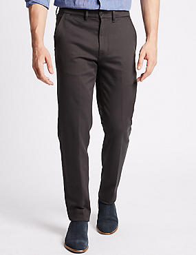 Big & Tall Slim Fit Cotton Rich Chinos, GREY, catlanding