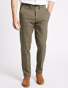 Big & Tall Slim Fit Cotton Rich Chinos, NATURAL, catlanding