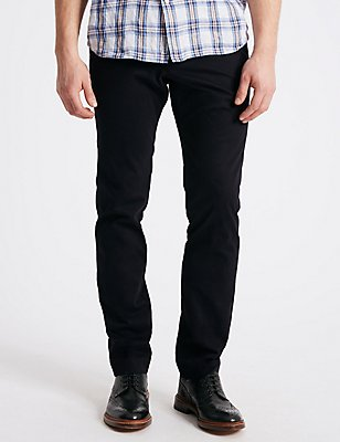 Slim Fit Smart Travel Chinos with Stretch, NAVY, catlanding