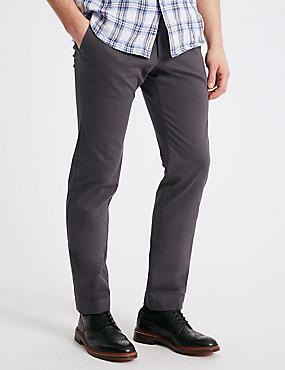 Slim Fit Smart Travel Chinos with Stretch, CHARCOAL, catlanding