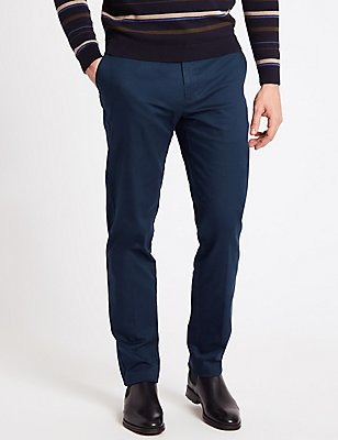 Slim Fit Cotton Rich Chinos, NAVY, catlanding