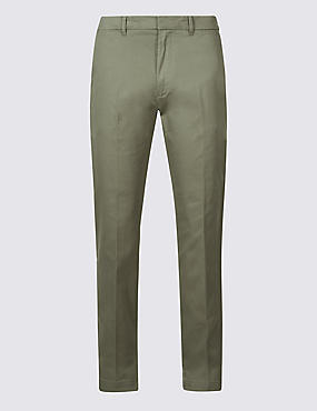 Slim Fit Cotton Rich Chinos, WASHED GREEN, catlanding