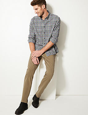Slim Fit Cotton Rich Chinos, NATURAL, catlanding