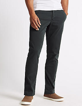 Slim Fit Cotton Rich Chinos, CHARCOAL, catlanding