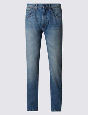Зауженные джинсы из чистого хлопка M&S Collection T176522M