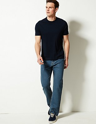 Regular Fit Pure Cotton Jeans, TINT, catlanding
