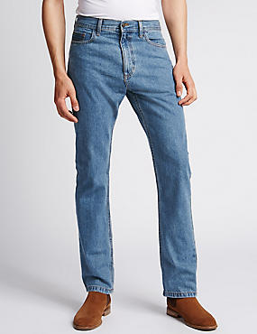 Big & Tall Regular Fit Jeans, MEDIUM BLUE, catlanding