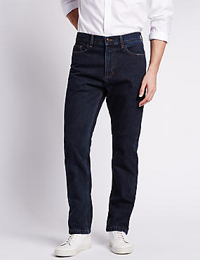 Big & Tall Regular Fit Jeans, DARK INDIGO, catlanding