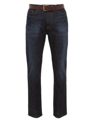 Зауженные джинсы-стретч  Stormwear™ с водоотталкивающими свойствами от Marks & Spencer