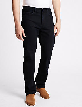 Straight Fit Jeans, BLUE/BLACK, catlanding