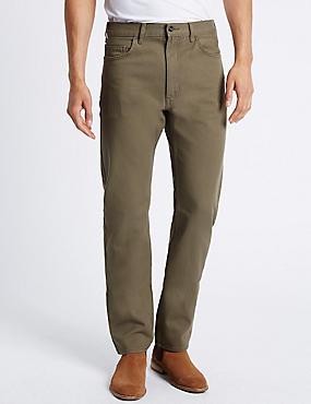 Straight Fit-jeans, STEENGRIJS, catlanding