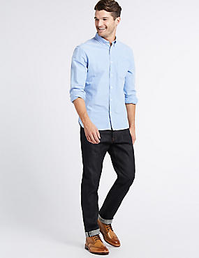 Slim Fit Stretch Jeans, INDIGO, catlanding