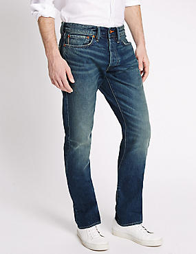 Limited Edition Vintage Wash Selvedge Jeans, INDIGO, catlanding