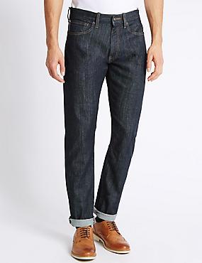 Slim Fit Selvedge Jeans, INDIGO, catlanding