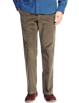 Buttonsafe™ Pure Cotton Corduroy Trousers with Stormwear™, MOLE, catlanding